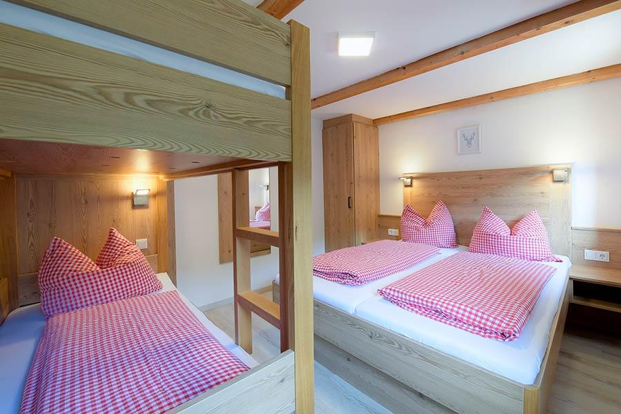 Chalet Doppelzimmer mit Stockbetten
