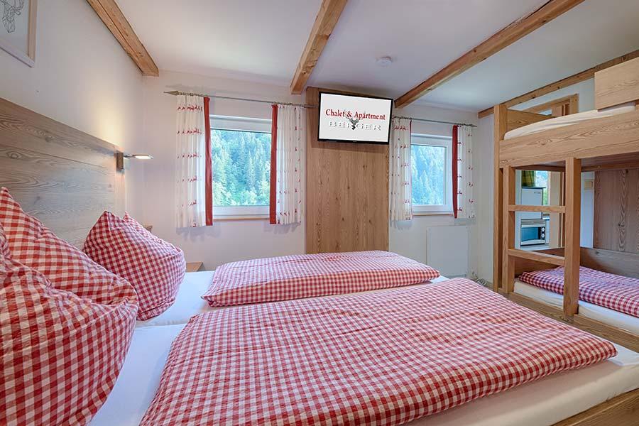 Chalet Zimmer mit Stockbetten
